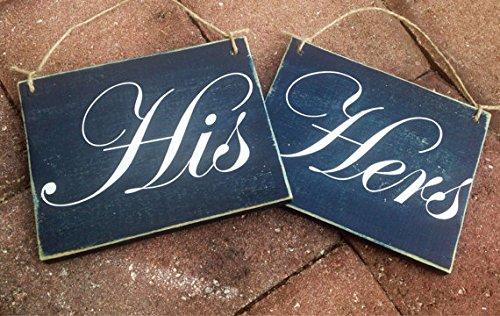 HIS HERS Wedding CUSTOM 7x6 each Wedding Closet Restroom ...