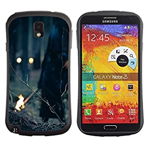 Fuerte Suave TPU GEL Caso Carcasa de Protección Funda para Samsung Note 3 N9000 N9002 N9005 / Business Style Witch Halloween Demon Forest