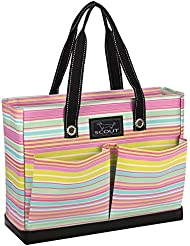 SCOUT Uptown Girl Medium Multi-Pocket Tote Bag, Water Resistant, Zips Closed