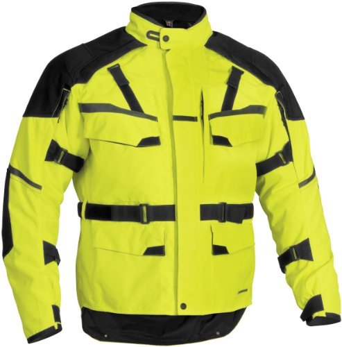 Firstgear Jaunt T2 Men's Textile Motorcycle Jacket (DayGlo, Medium ()