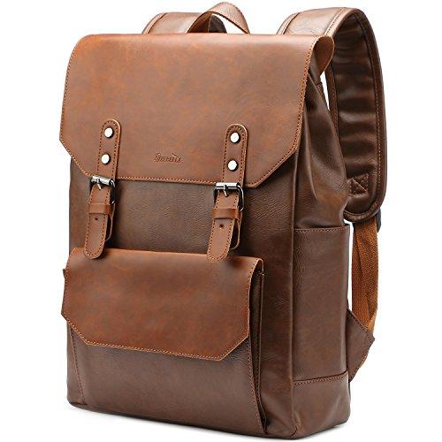Laptop Backpack Knapsack Rucksack Daypack Bag Pu Leather for College