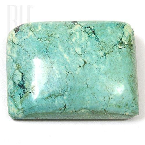 Be You Naturel tibétain Turquoise Good Qualité 24x18 mm Cabochon Baguette Forme 34.55cts 1 pièces en vrac gemme
