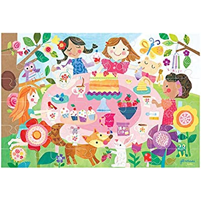 C.R. Gibson Gibby & Libby A Sparkling Tea Party Glitter Puzzle (48 Piece): Toys & Games