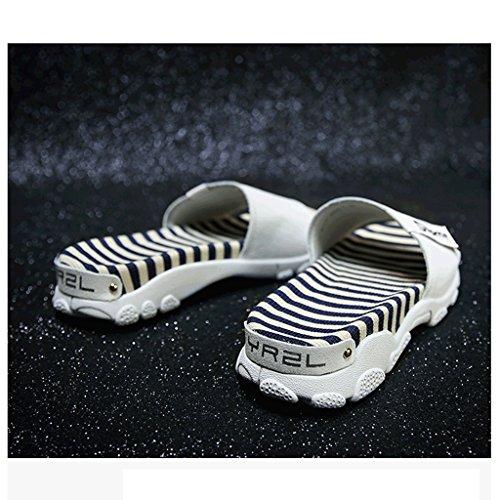 Sandales Blanc Chaussons de d'été Chaussures Pantoufles 6 Couleur 5 Taille Porter Mode des Sport Femme de Blanc wvaxSqwHBF