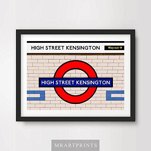 london-underground-high-street-kensington-art-print-poster-tube-station-sign-train-railway-british-u