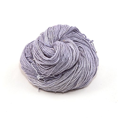 Darn Good Yarn, Lace Weight Silk Yarn, 300 Yards, Grandma's Silver, 50 Grams, 1 Skein ()