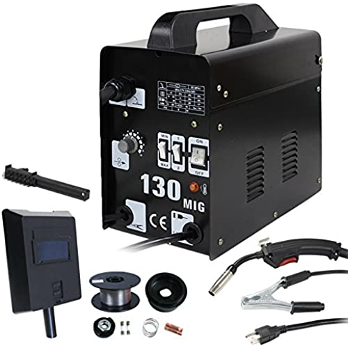 Buy ZENY MIG130 Gas-Less Flux Core Wire Welder Welding Machine AC Current MIG 130 60 AMP Automatic Feed Unit DIY, Commercial Grade