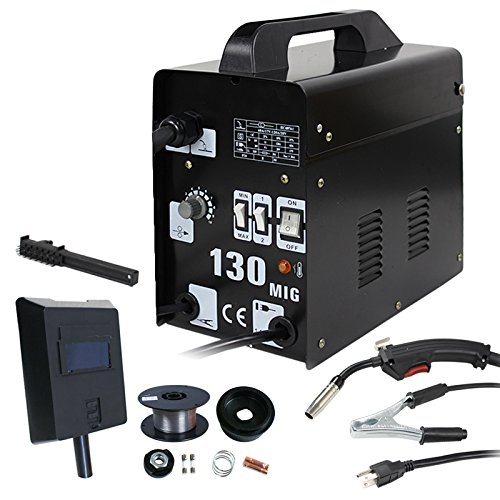 ZENY MIG130 Gas-Less Flux Core Wire Automatic Feed Welder Welding Machine w/Free Mask AC Current 60 AMP - Commercial Grade - 110 V