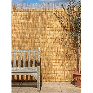 4.0 x 2.0m (13ft 1in x 6ft 7in) Papillon Reed Natural Garden Fence Screening Roll Privacy Border Wind/Sun Protection
