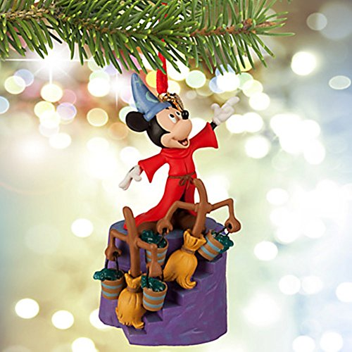 disney sorcerer mickey mouse sketchbook ornament fantasia 75th anniversary - Mickey Mouse Christmas Tree Decorations