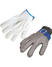 ThreeH Cut Resistant Work Gloves Stainless Steel 316L Wire Mesh Butcher Gloves GL09(One piece)