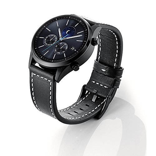 (Kartice Compatible Galaxy Watch (46mm) Bands,Gear S3 Bands,22mm Genuine Leather Strap Replacement Buckle Strap Wrist Band for Samsung Gear S3 Frontier Smartwatch. )