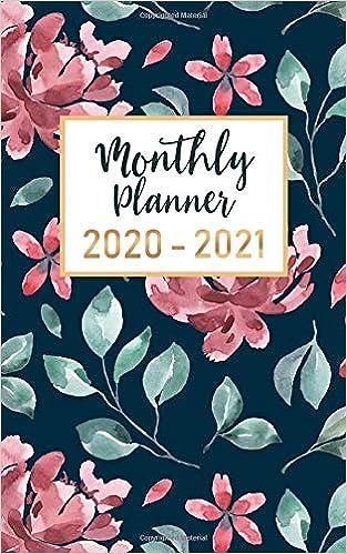 monthly planner 2020 2021: 2 year calendar pocket planner ( 5 x 8