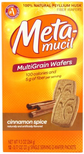 Metamucil Wafers Cinnamon Spice, 9.3-Ounce box (Pack of 2)