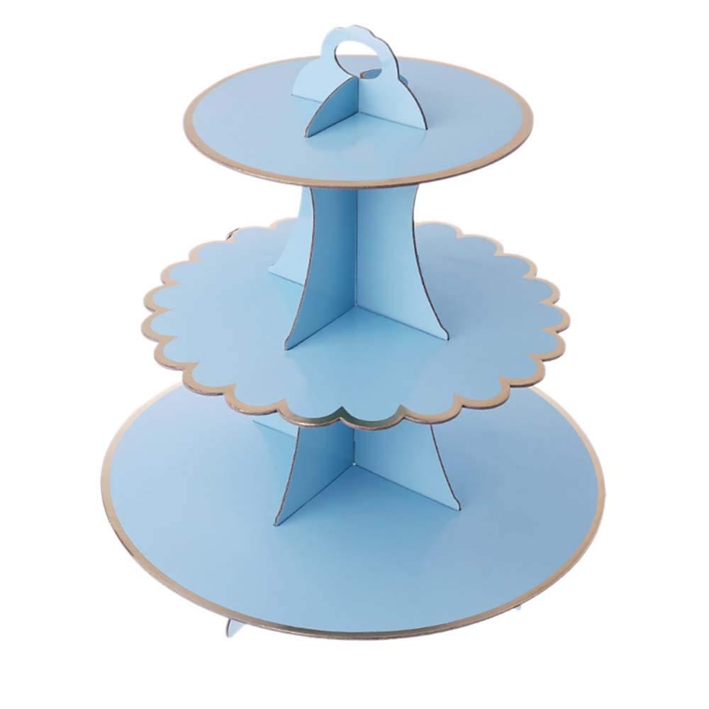 Trípode de torta,cupcakes,cartón,decoración de cumpleaños ...