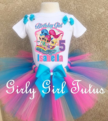 Shimmer and Shine Custom Birthday Outfit Tutu Set by Girli Girl Tutus