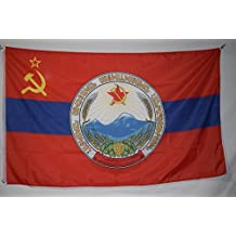 The Armenian Soviet Socialist Republic with Coat of Arms Flag Banner 3x5