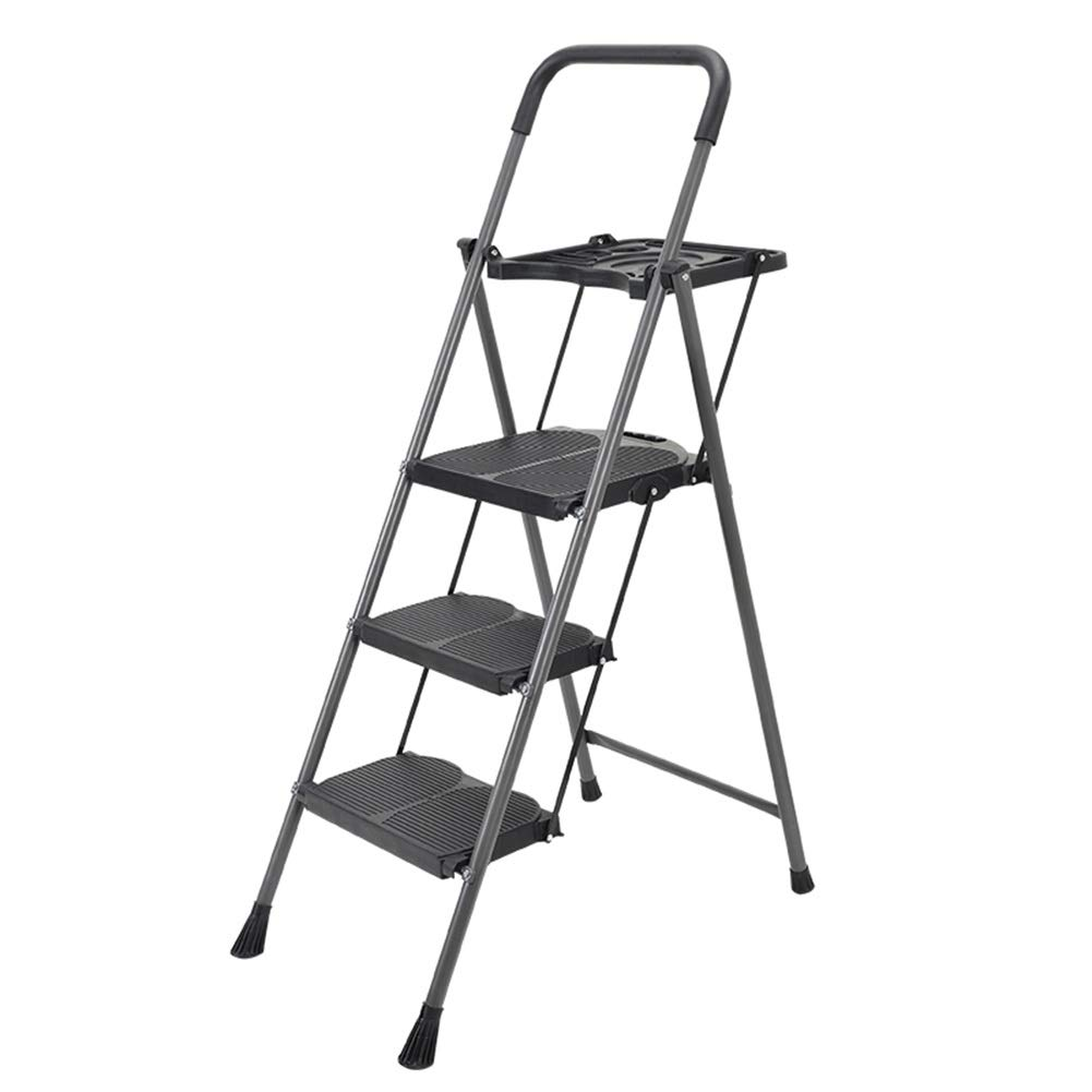 3575132 ZHAOYONGLI-Stepladders Ladder  Stool Aluminum Folding Ladder Wide Pedal Engineering Stair Stool Thickening Multi-function Ladder (Size   35  75  132)