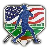 PinMart Large Baseball Patriotic Trading Enamel Lapel Pin