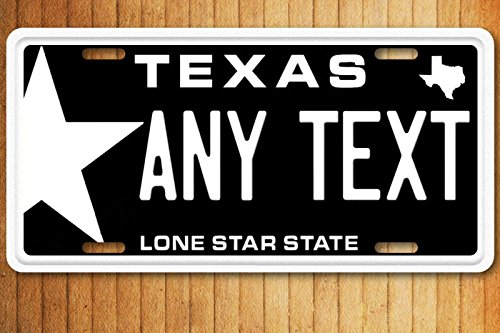 Plates By Jamie Texas Star Any Text Personalized Novelty License Plate ()