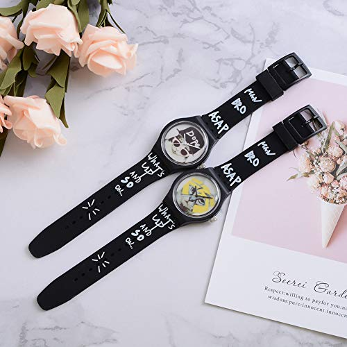 Cool Boys Girls Letters Cat No Numbers Analog Quartz Silicone Band Wrist Watch by Gaweb (Image #6)