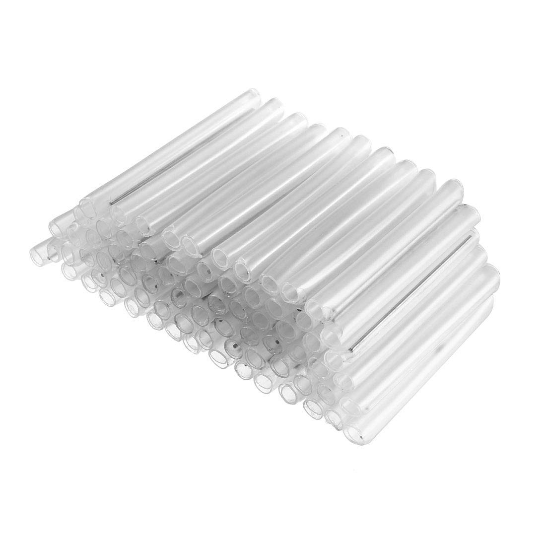 EUNOZAMY 58mm 5.6mmOD Fundas protectoras de tubo de empalme de fibra /óptica Fusion Tubo termorretr/áctil transparente 400pcs
