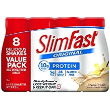 Slim Fast Original, Meal Replacement Shake, French Vanilla, 11 Ounce, 8 Count (Pack of 3) by Slim-Fast