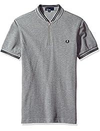 Men's Bomber Neck Pique Shirt