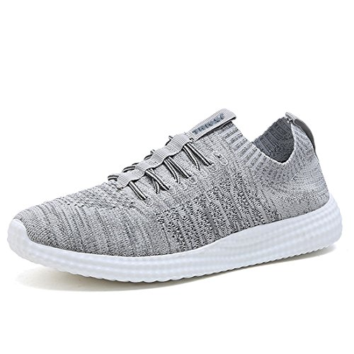 ANTETOKUPO Mens Running Shoes Casual Walking Sneakers Workout Athletic Shoe for Men (12, Grey-A)