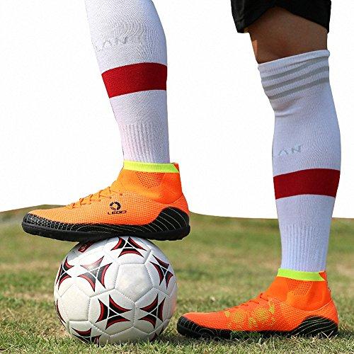Ben Sports Unisex TF AG FG Fußball-Trainingsschuhe Fußballschuhe Football Schuhe der Herren Jungen,33-45 TF-Orange