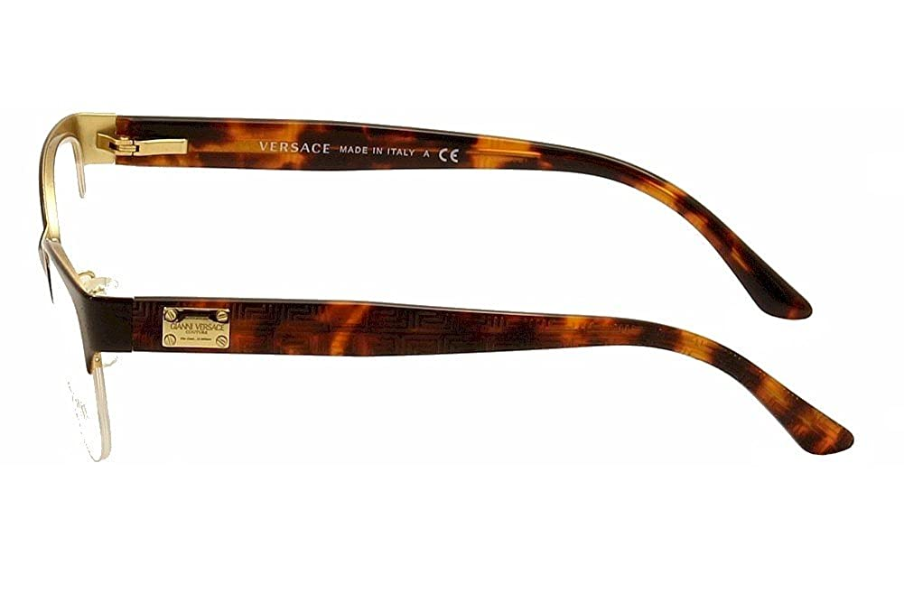 33879a8a08 Amazon.com  Versace VE1222 Eyeglasses-1344 Brown-53mm  Clothing