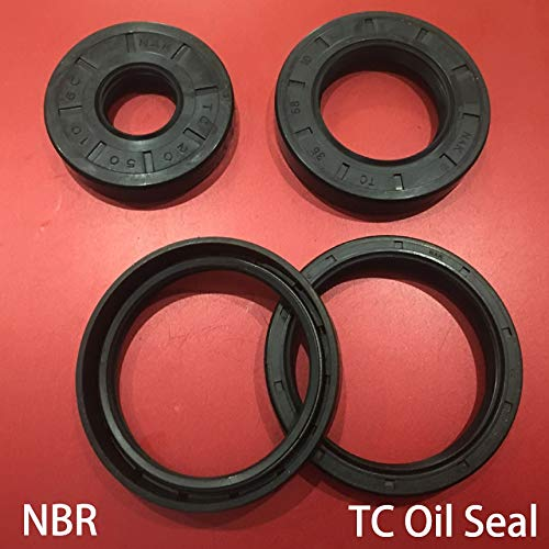 Gimax 35727/8/10/12 35x72x7/8/10/12 35827 35x82x7 Nitrile Rubber NBR Double Lips Spring TC Gasket Radial Shaft Skeleton Oil Seal - (Size: 35x72x10)