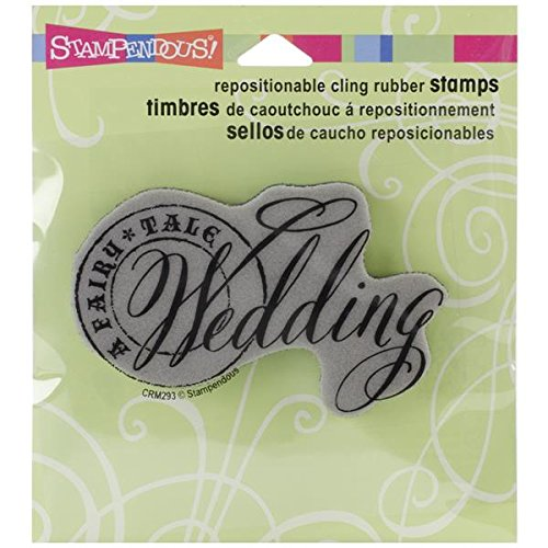 - STAMPENDOUS Cling Rubber Stamp, Fairy Tale Wedding Image