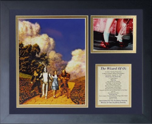 - Legends Never Die Wizard of Oz Yellow Brick Road Framed Photo Collage, 11x14-Inch