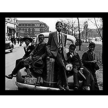 "1941 BOYS SITTING ON CAR 24/""x36/"" SOUTH SIDE CHICAGO POSTER PRINT SUNDAY/'S BEST"