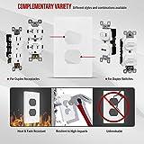 ENERLITES Screwless Duplex Wall Plates, Child Safe