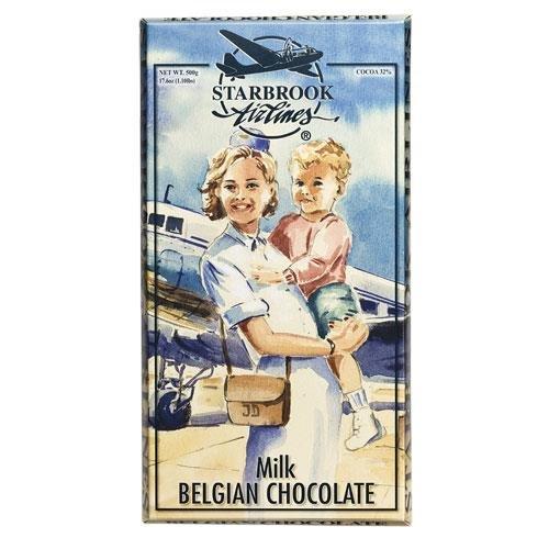 Starbrook Airlines, Giant Belgian Milk Chocolate Bar 400g (14.1oz)
