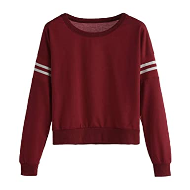 d16b190205 Dimanul Hooded Sweatshirt Women Long Sleeve Pullover Cute Top Blouses Teen  Girls Sweatshirts Red Shirt Clothes at Amazon Women s Clothing store