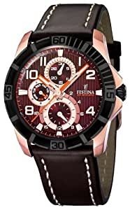 Festina F16454/2 - Reloj analógico de cuarzo para hombre con correa de piel, color marrón