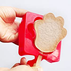 Fieans Homemade Creative Shape Reusable Ice Pop Mold Popsicle Maker Popsicle Mould-Bear paw