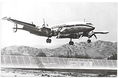 (Real Photo Postcard Lockheed Super-G-Constellation Airplane Landing~105066)