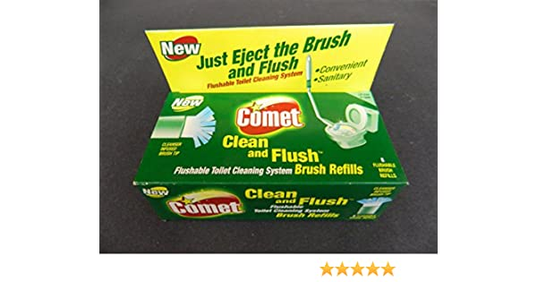 Amazon.com: Comet Clean and Flush, Flushable Toilet Cleaning System Brush Refills (8 Refills): Home & Kitchen