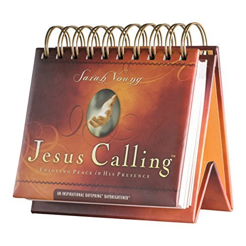 DaySpring Sarah Young's Jesus Calling, DayBrightener Perpetual Flip Calendar, 366 Days of Scripture (75621) by Sarah Young (2015-04-01) (2015 Daily Calendar Desk)