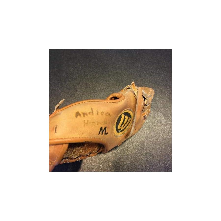 1970's Jim Catfish Hunter Signed Wilson Game Model Baseball Glove COA JSA Certified Autographed MLB Gloves