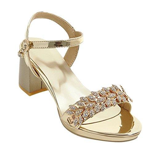 Sandali dorati con cerniera con tacco stiletto per donna Carrano mO0ZlTrl4