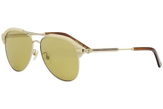 881b83dd4ca Amazon.com  Gucci Brown Aviator Sunglasses GG0288SA-004 60  Clothing