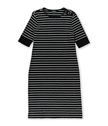 RALPH LAUREN Womens Knit Shift Sweater Dress Black PS - ()