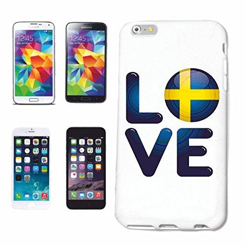 """cas de téléphone iPhone 7 """"J'AIME SUÈDE J'AIME SUÈDE SUÉDOIS SCHWEDIN HOLIDAY DESTINATION VACANCES"""" Hard Case Cover Téléphone Covers Smart Cover pour Apple iPhone en blanc"""