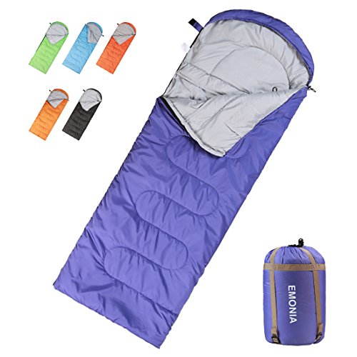 Emonia Camping Sleeping Bag,Waterproof Outdoor Hiking Backpacking Sleeping Bag Perfect for 20 Degree Traveling,Lightweight Portable Envelope Sleeping Bags for Adults,Kids,Girls and Boys]()
