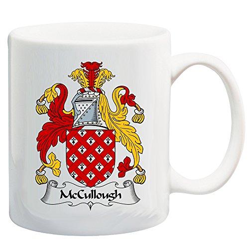 McCullough Coat of Arms/McCullough Family Crest 11 Oz Ceramic Coffee/Cocoa Mug by Carpe Diem Designs, Made in the U.S.A.